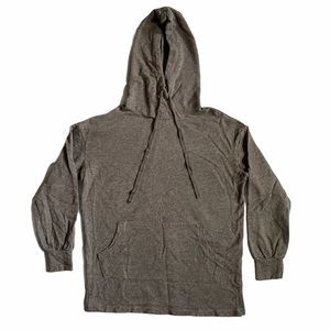 Core Pull Over Hoodie With Front Pocket Youth Gray
